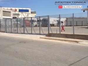 Μεταλλική Κατασκευή Πόρτας σε Επαγγελματικό Χώρο στον Ασπρόπυργο